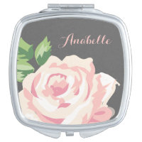 Vintage Rose Personalised Makeup Mirror