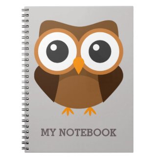 Personalized owl notebook