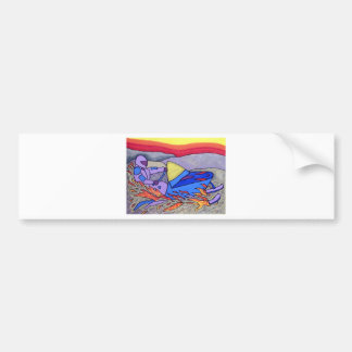 01 Snowmobile color by Piliero Bumper Sticker