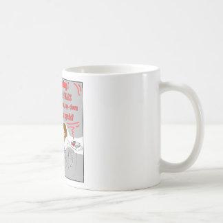 069-Eye lid exercise cartoon Basic White Mug