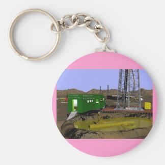 07 Mud Logging tlr copy Basic Round Button Key Ring