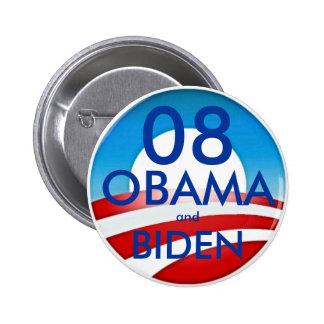 08 OBAMA and BIDEN 6 Cm Round Badge
