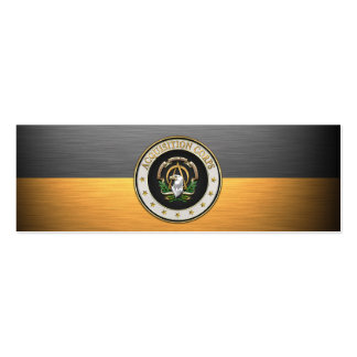 [100] Acquisition Corps (AAC) Branch Insignia [3D] Pack Of Skinny Business Cards