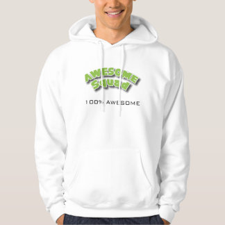100% Awesome with GT Hooded Sweatshirt