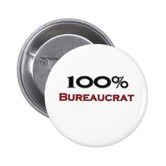 100 Percent Bureaucrat 6 Cm Round Badge