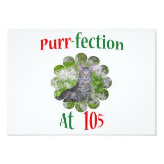 105  Purr-fection 13 Cm X 18 Cm Invitation Card