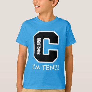 10th Birthday Big Letter C I'm Ten V04 Shirt