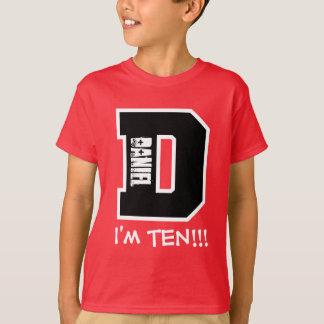 10th Birthday Big Letter D I'm Ten V05 T Shirts