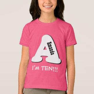 10th Birthday Bit Big Letter A I'm Ten V3 Shirts