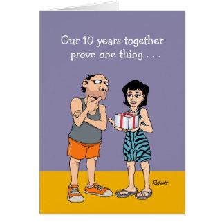 10th Wedding Anniversary Card: Love Greeting Card