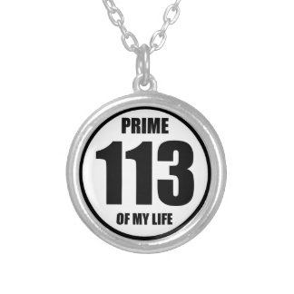113 - prime of my life round pendant necklace