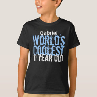 11th Birthday Gift World's Coolest 11 Year Old Tshirt