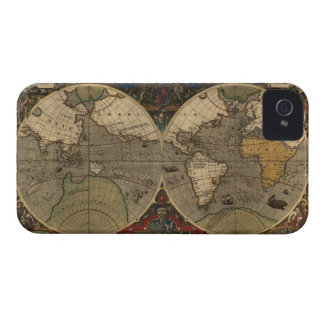 1595 Hondius Old Style World Map iPhone 4 Case