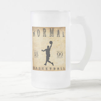1899 Normal Illinois Basketball Frosted Glass Mug