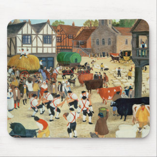 18th century Mayfair cattle market Mouse Pad