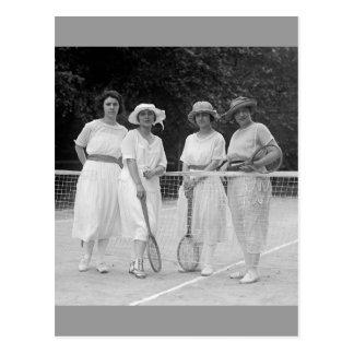 1920s Tennis Fashion Postcard