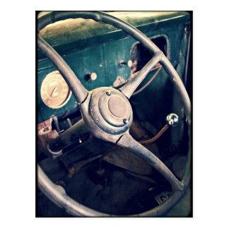 1939 Antique Classic Car Dashboard Postcard