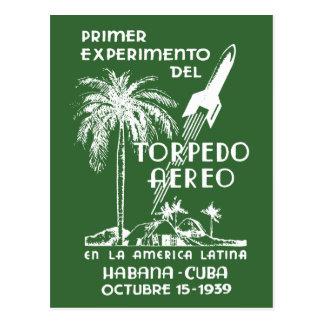 1939 Cuban Rocket Mail Postcard
