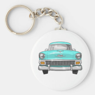 1956 Chevrolet Bel Air Basic Round Button Key Ring