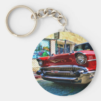 1957 Chevy Belair Nose Basic Round Button Key Ring