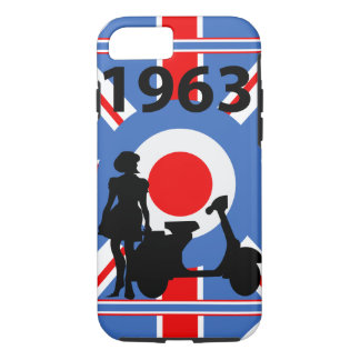 1963 Scooter girl mod target iPhone 7 Case