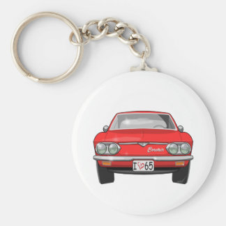 1965 Chevrolet Corvair Front View Basic Round Button Key Ring