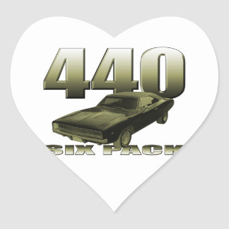 1968 dodge charger 440 six pack heart sticker