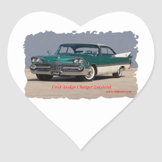 1968 Dodge Charger Daytona Heart Sticker