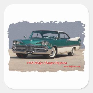 1968 Dodge Charger Daytona Square Sticker