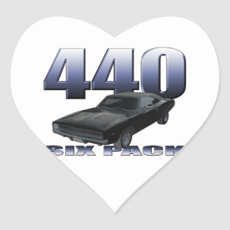 1968 dodge charger rt 440 six pack heart sticker