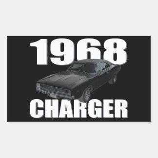 1968 dodge charger rt rectangular sticker