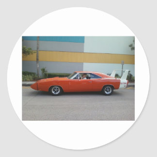 1969 Dodge Charger Daytona 440 Round Sticker