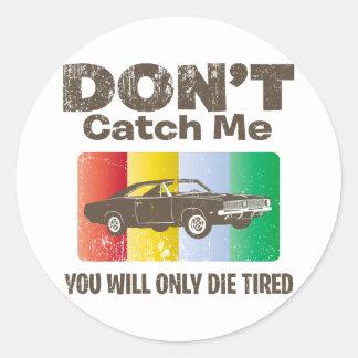 1969 Dodge Hemi Charger Round Sticker