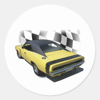 1970 Dodge Charger R/T Round Sticker