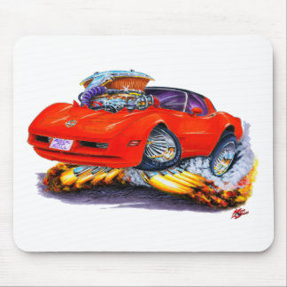 1980-82 Corvette Red Car Mouse Pad