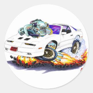 1982-92 Trans Am White Turbo GTA Round Sticker