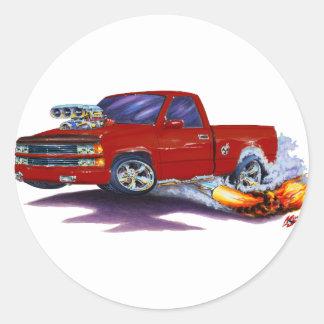 1988-98 Silverado Maroon Truck Round Sticker