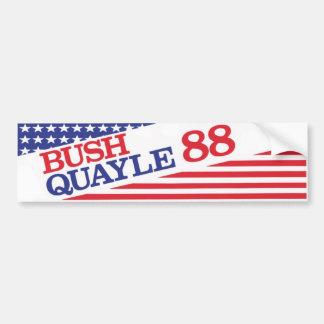1988 Bush Quayle Vintage Bumper Sticker