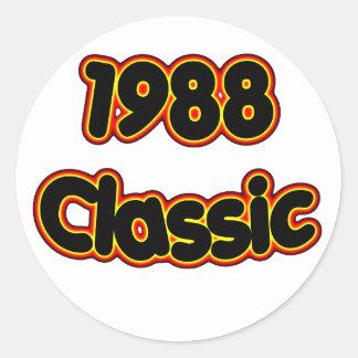 1988 Classic Round Sticker