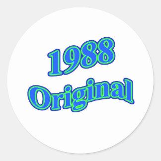 1988 Original Blue Green Round Sticker