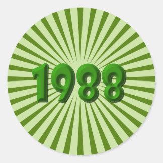 1988 ROUND STICKER