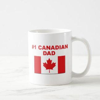 #1 Canadian Dad Basic White Mug