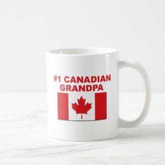 #1 Canadian Grandpa Basic White Mug