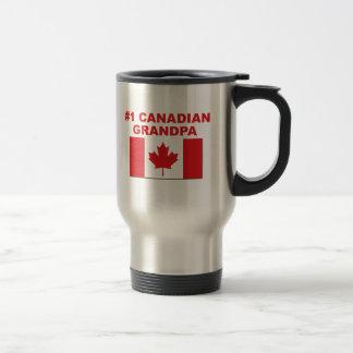 #1 Canadian Grandpa Stainless Steel Travel Mug
