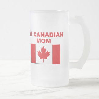 #1 Canadian Mom Frosted Glass Mug
