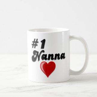#1 Nanna Grandparent's Day Gifts Basic White Mug