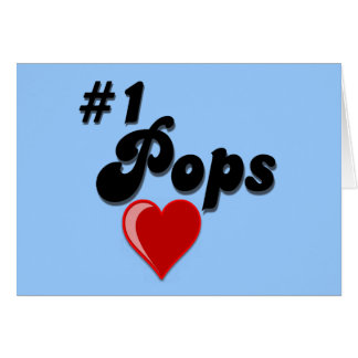 #1 Pops - Celebrate Grandparent's Day Greeting Card