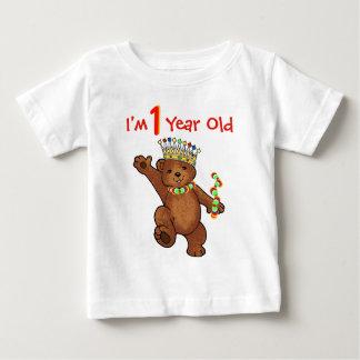 1 Year Old Royal Bear Birthday Tshirt