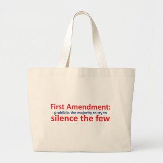 1st Amendment: protects the minority Jumbo Tote Bag