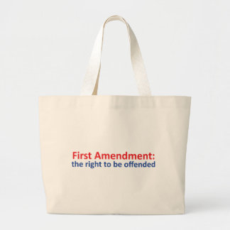 1st Amendment: right to be offended Jumbo Tote Bag